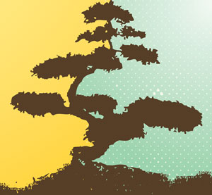 Bonsai Tree Graphic.